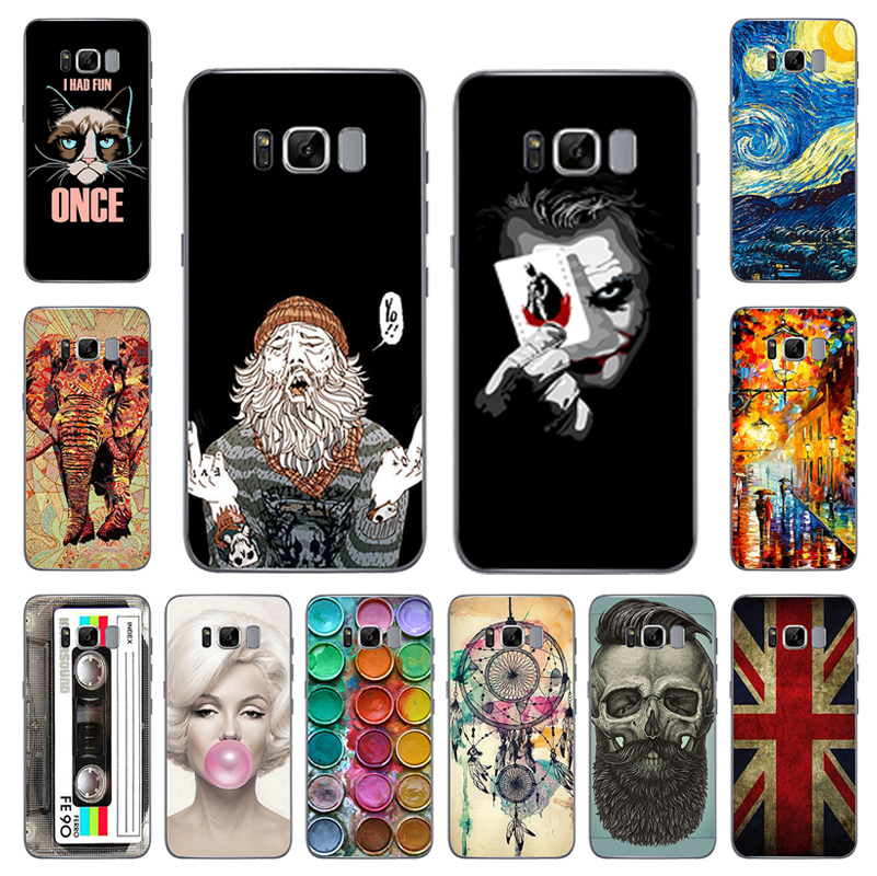 Galleria fotografica Cool Design Soft TPU Case For Samsung Galaxy A3 A5 A7 J3 J5 J7 2017 2016 S7 Edge S8 Plus Soft Silicone Cover Phone Back Cases