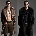 Men Fur Coat Winter Faux Fur Outwear On Both Sides Coat Men Punk Parka Jackets Long Leather Overcoats Genuine Fur Brand Clothing
