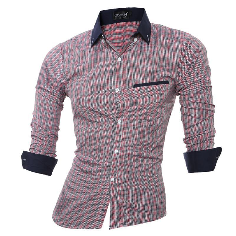 Compare Prices on Men Formal Checked Shirts- Online Shopping/Buy ...