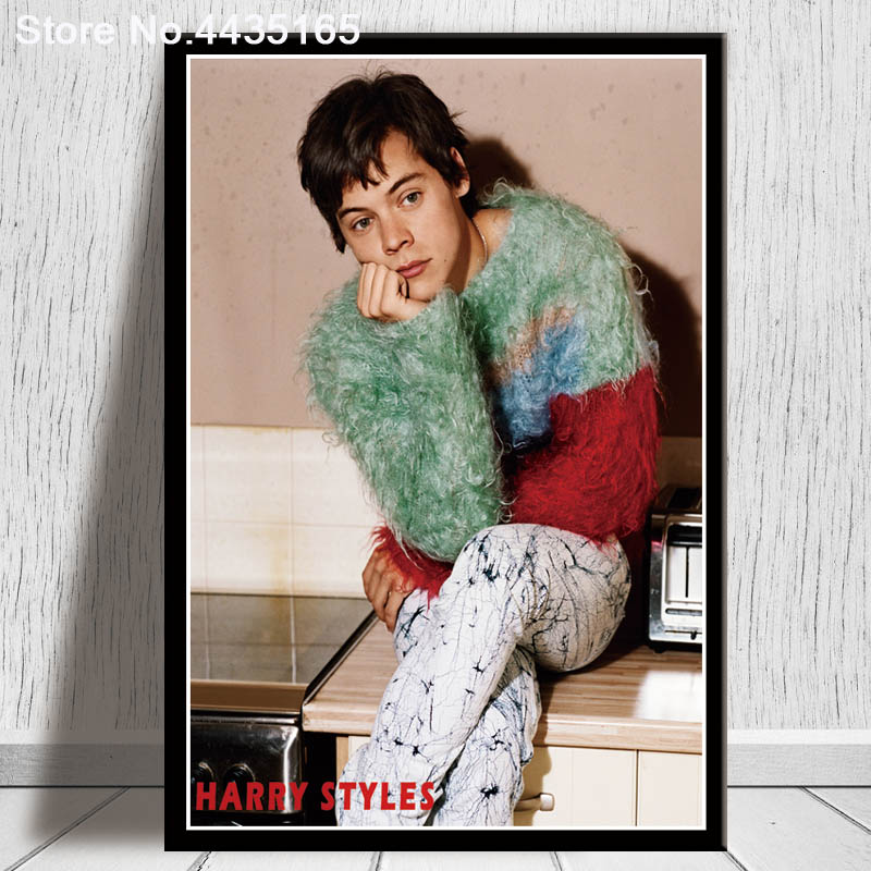 52c86d1603578 US $1.98 27% OFF Harry Styles Poster Singer Star Album Music Live Posters  and Prints Canvas Painting Wall Art Print for Living Room Home Decor-in ...