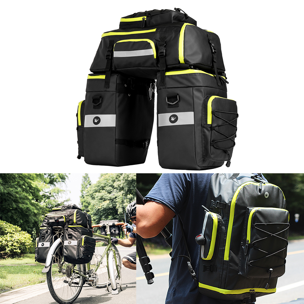 Men Backpack Waterproof Bicycle Bag Bike Cyling Bag Bicycles Motorcycle Panniers Bags Tail Seat Bags for Bike Cycling Accessory