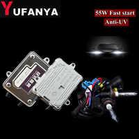 55W hid xenon Kit Car Headlight converison kit AC Ballast 55w with bulbs H11 h4-2 H7 H9 H1 9006 Bulb 4300K 6000k