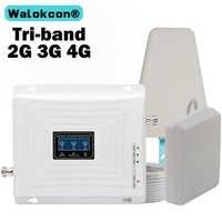 GSM 3G 4G amplificador de señal 900, 1800 de 2100 Tri-banda de 2G 3G 4G AMPLIFICADOR DE señal celular LTE 1800 repetidor de señal de teléfono móvil