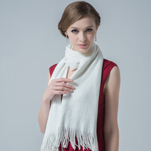 e7236b278c2e Autumn and Winter Long Tassel Scarf Female Fashion Knitted Warm Scarves  Lady Warm Long Pashmina Girls