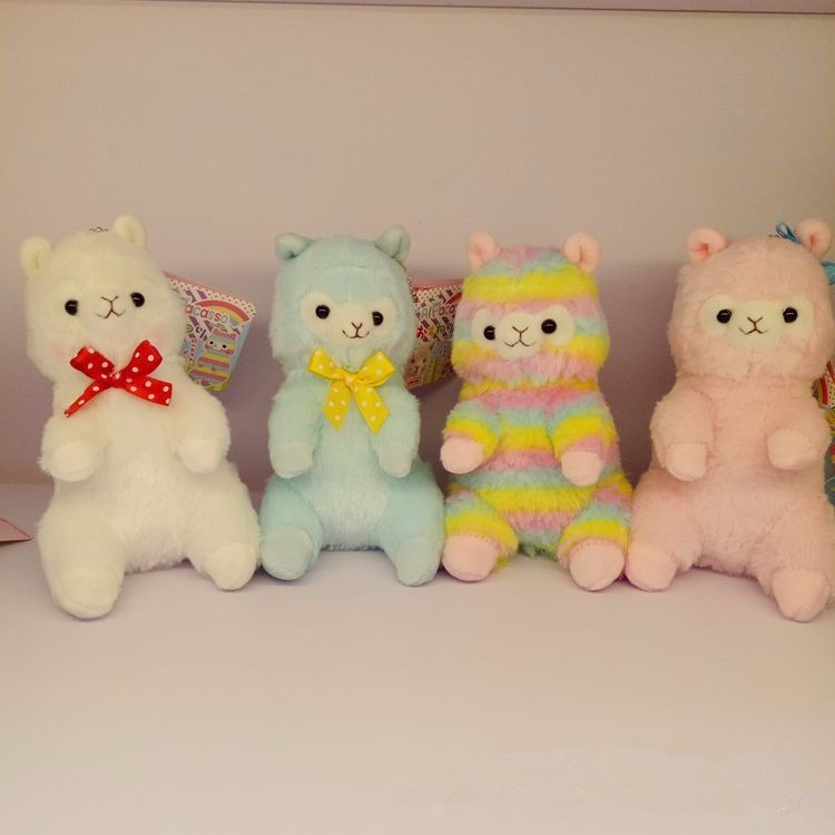 New 15/18cm  Alpaca Llama Plush Toy Stuffed Animal Dolls Simulation Sit Japanese Alpacasso Soft Doll For Kid Girls Birthday Gift