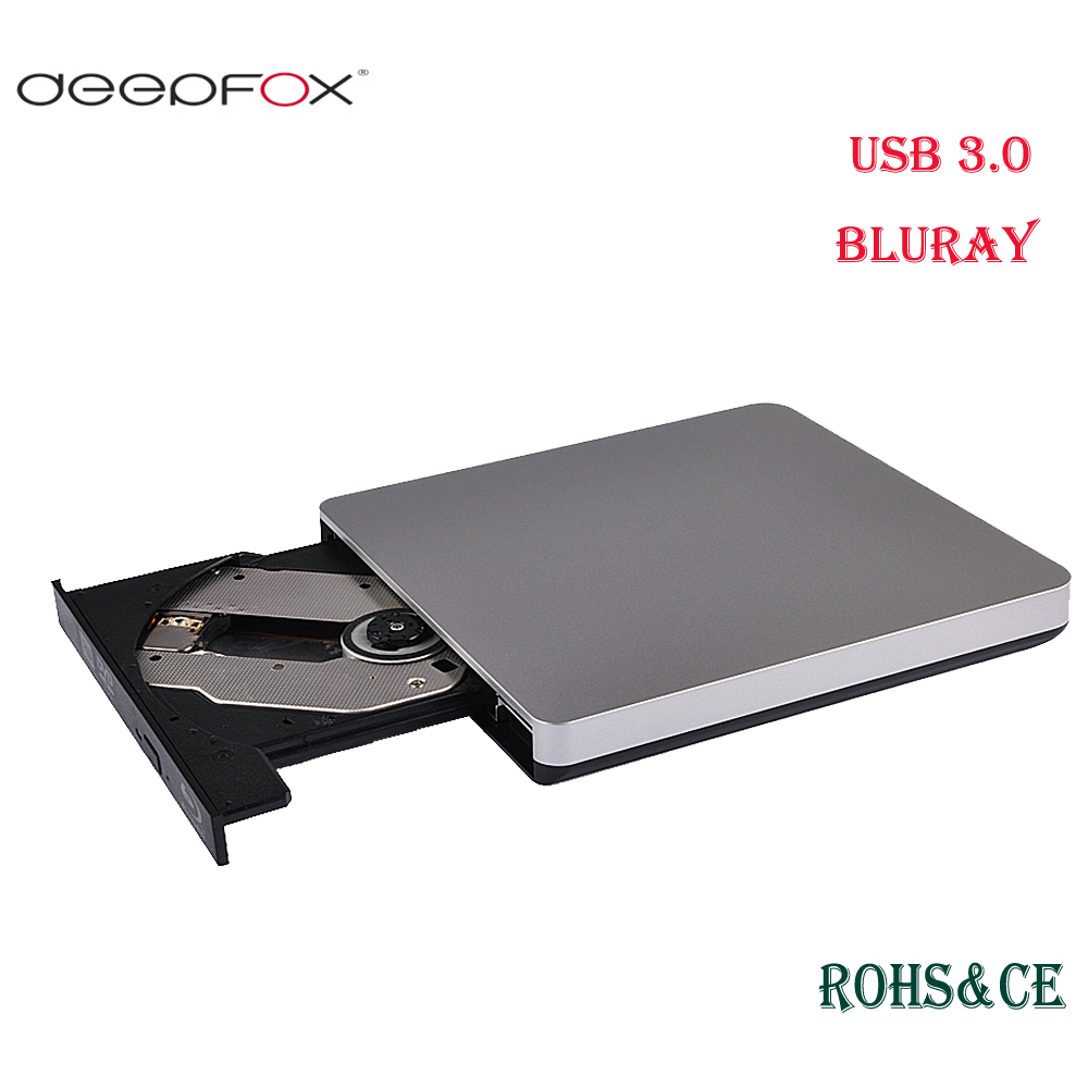 Deepfox Bluray Player External Optical Drive USB 3.0 Blu ray BD-ROM CD/DVD RW Burner Writer Recorder Portable For Macbook Laptop deepfox sata 3 cd rom drive cable usb 2 0 for connecting the dvd driver support pc laptop sata port wholesale