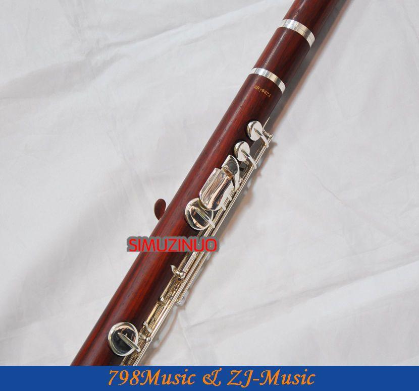 ALTO Flute-Perak Disepuh-ROSE WOOD-G - Alat-alat musik - Foto 2