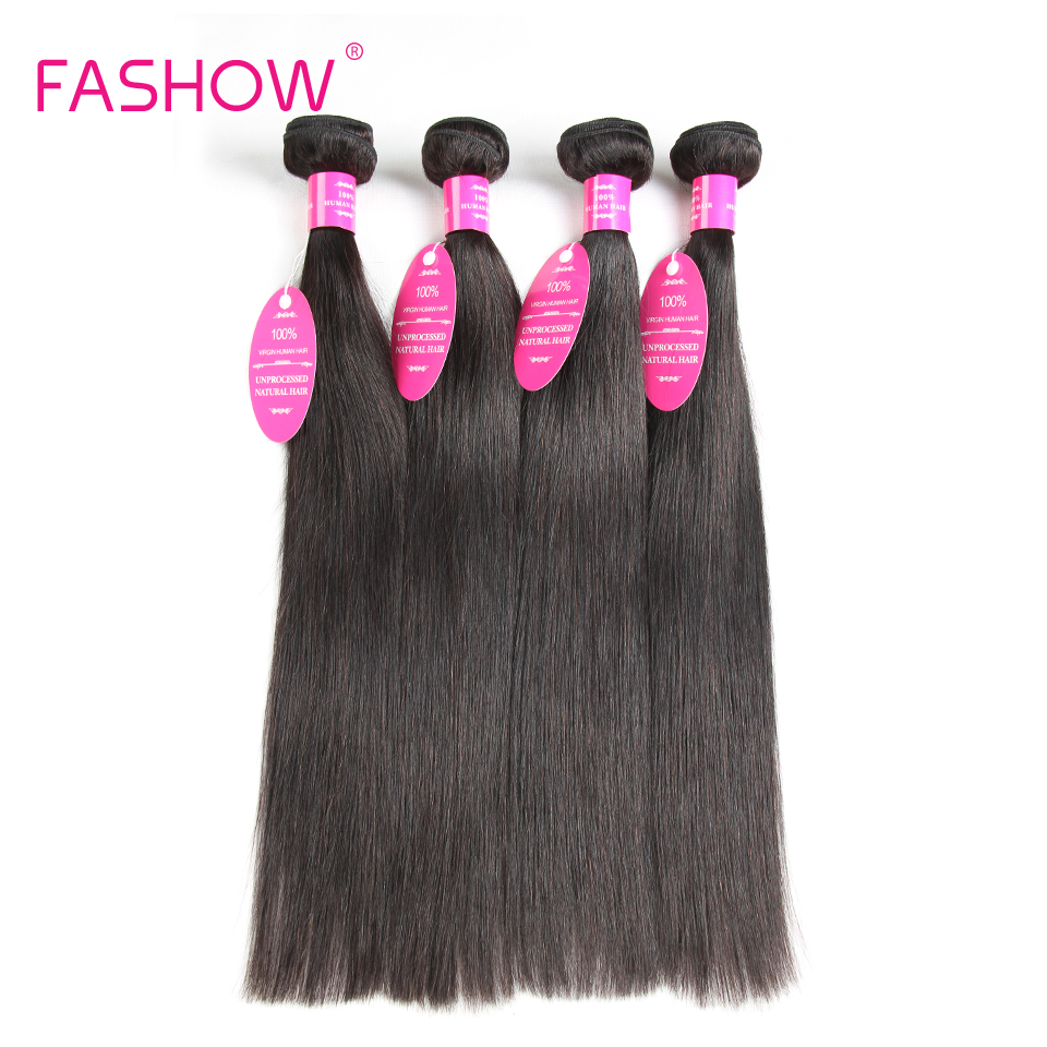 Indian Straight Hair 4 Bundles 100% Human Hair Weave Bundles Fashow Hair Bundles Non Remy Weave Double Weft