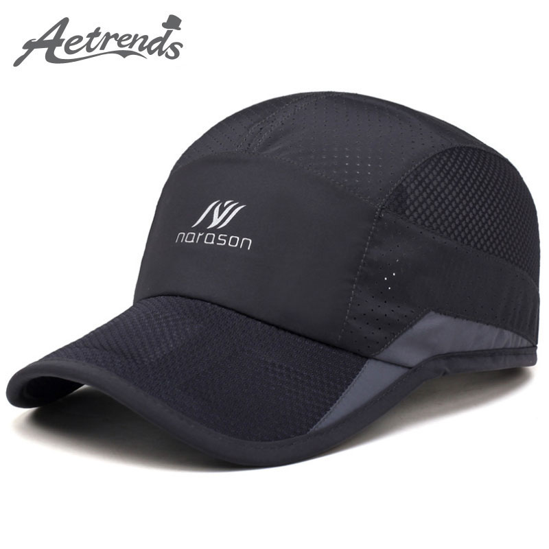 97062c78079345 [AETRENDS] Korean Stylish Mesh Cap with Logo Print Baseball Cap Men Women  Brand Outdoor Sports Caps Baseball Hats for Men Z-5078