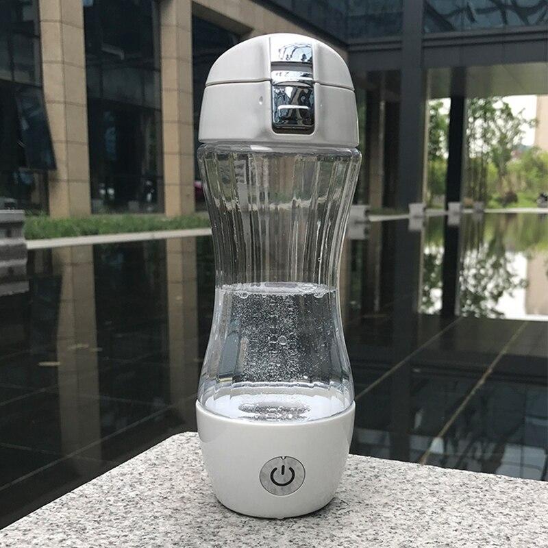 SPE/PEM Technologie Générateur D'hydrogène De L'eau 350 ml TRITAN Tasse Corps Alcaline Ioniseur D'eau Bouteille Riche En Hydrogène Fabricant De L'eau WAC011