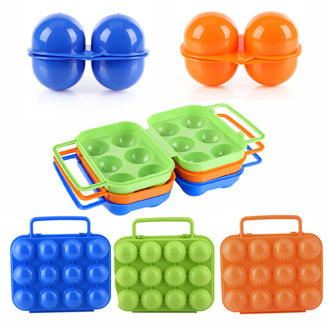 2/6/12 Slots Random Color Egg Plastic Storage Organizer Box Kitchen Storage Gadget Accessories Boite De Rangement