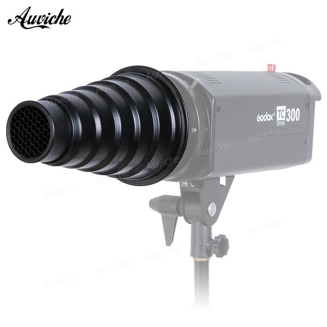 Godox SN-01  Flash Snoot Honeycomb Grid Light Beam Tube for Bowens Mount Studio Strobe Flash