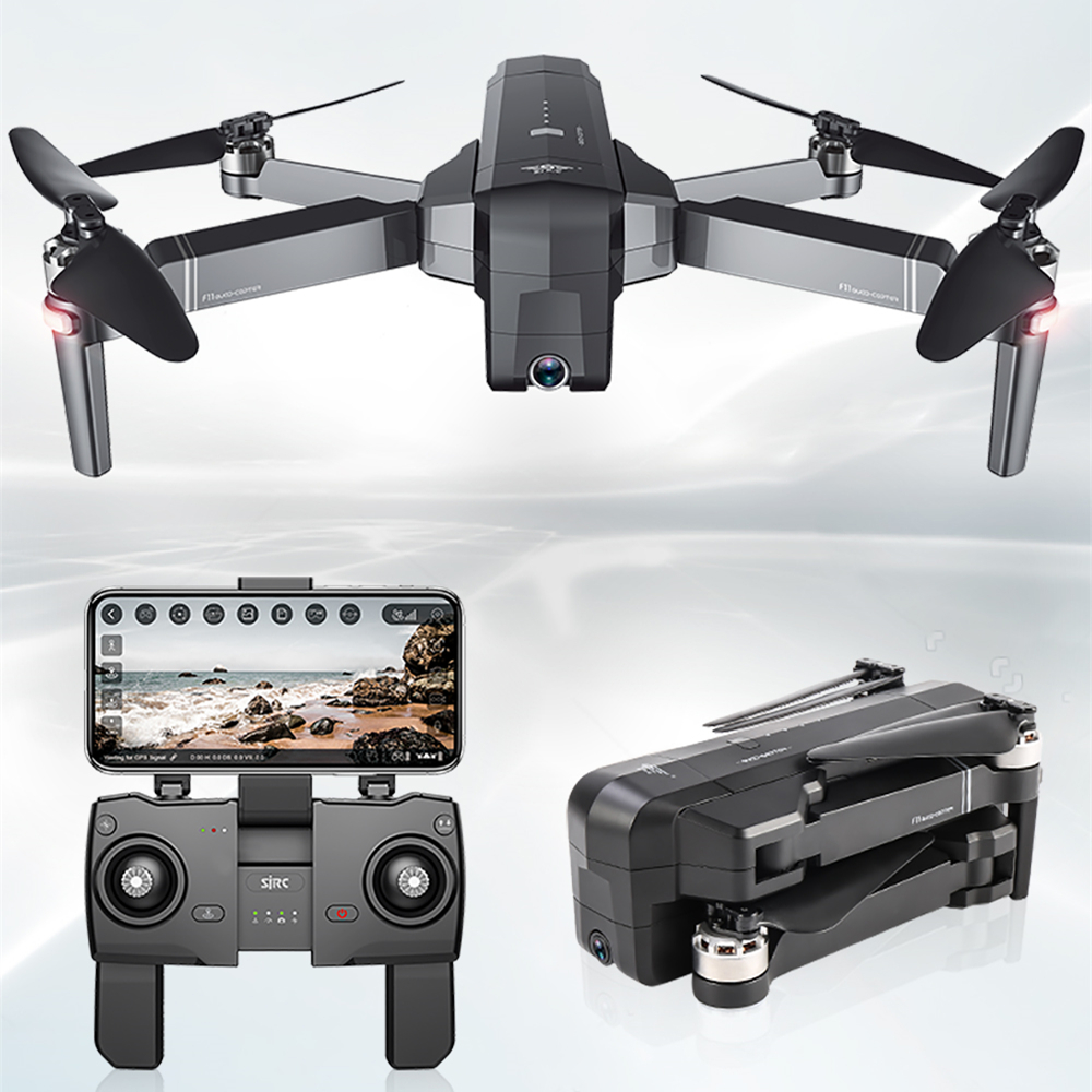 SJRC F11 Drone avec Wifi FPV 1080 P Caméra Sans Brosse quadrirotor 28 minutes de Temps de Vol Quadcopter avec Caméra Drone Vs CG033
