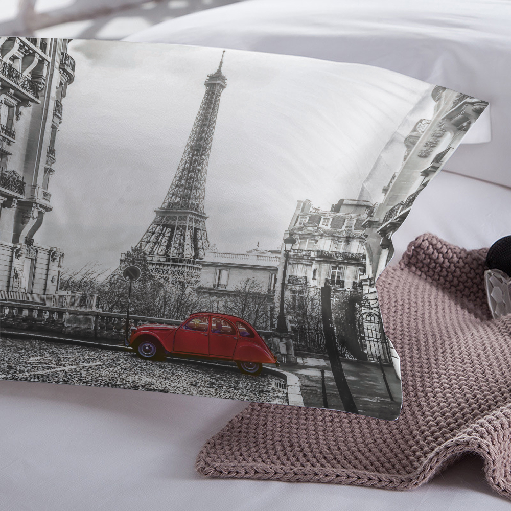 Image 4 - LOVINSUNSHINE Bed Linen Set Queen Comforter Sets City View 3d Digital Printing Parrure De Lit AB#65Bedding Sets   -