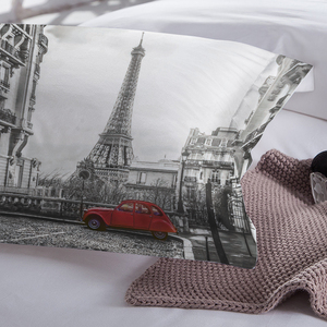 Image 4 - LOVINSUNSHINE ผ้าปูที่นอนชุดผ้าคลุมเตียง Queen ชุด City View 3D การพิมพ์ดิจิตอล Parrure De Lit AB #65