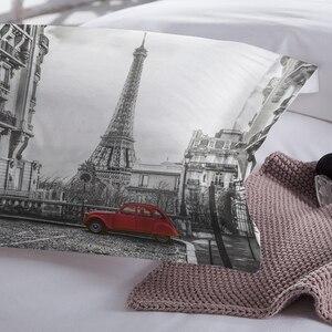 Image 4 - Lovinsun أغطية سرير مجموعة الملكة مجموعات لحاف السرير مدينة عرض ثلاثية الأبعاد الطباعة الرقمية Parrure دي مضاءة AB #65