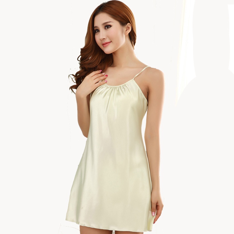 Solid Women Sleepwear Ladies Sexy Lingerie Sleepdress Babydoll Nightdress   Nightgown     Sleepshirts   Homewear 15 color 4 Sizes