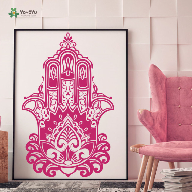 Yoyoyu Wall Decal Vinyl Decor Bedroom Decoration Removeable Fatima Hamsa Hand Yoga Sticker Boho Yo088
