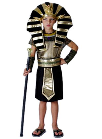 Child Ancient Egyptian Pharaoh Cleopatra Adult Costumes Halloween Cosplay Girl Costume Clothes Egypt Princess Prince Party
