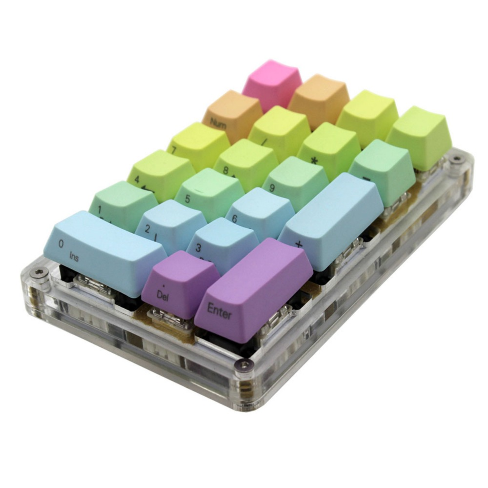21 Key YMDK Programmable Support Macro Function MX Cherry Gateron Switches Mechanical Keyboard Numpad For LOL
