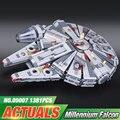 New LEPIN 05007 1381pcs Building Blocks Star Wars Force Awakens Millennium Falcon Model Kits Rey BB-8 10467