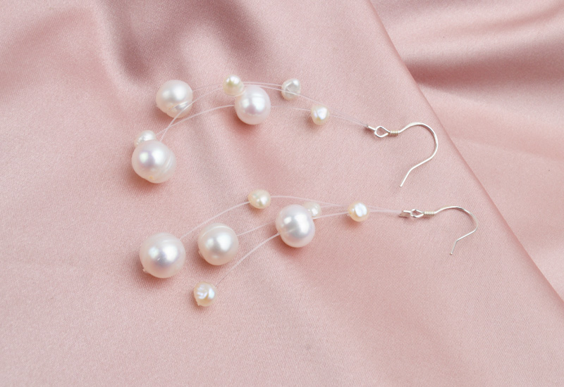 HTB1s8bYayjrK1RjSsplq6xHmVXaM - ASHIQI White Natural Freshwater Baroque Pearl bohemian earrings 925 Sterling Silver long Tassels Dangle Earrings for Women Gifts