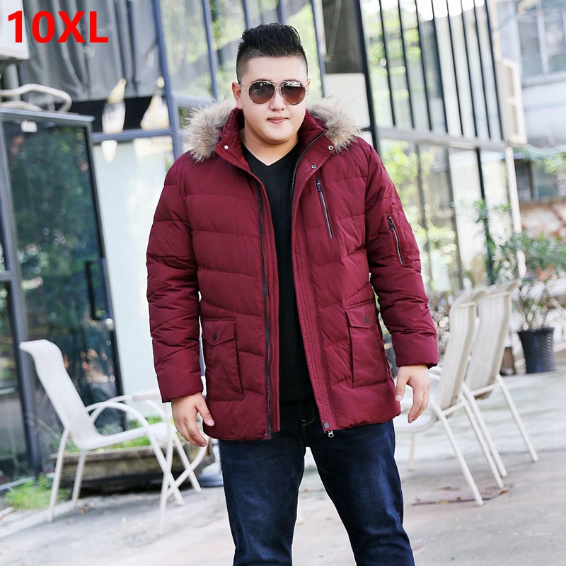 Winter plus size down jacket male big code father can detach the cap hair collar big size thread jacket 10X 9XL 8XL 7XL 6XL 5XL men plus size 4xl 5xl 6xl 7xl 8xl 9xl winter pant sport fleece lined softshell warm outdoor climbing snow soft shell pant