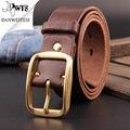 [Dwts] mens cinturones de lujo masculina genuina correa de cuero de diseño de alta calidad masculino cinto ceinture homme luxe marque un cinturón ancho
