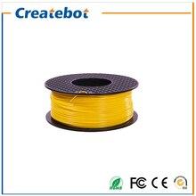 3D printer filament ABS 1.75/3.0mm 1kg plastic Rubber Consumables Material yellow color