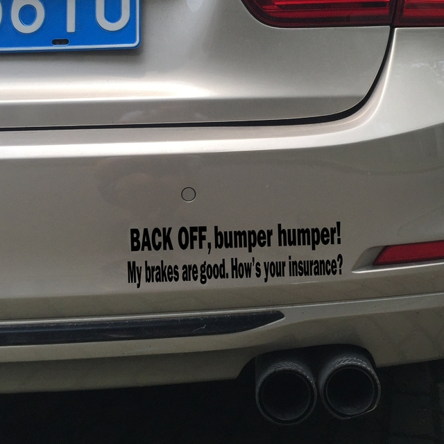 BACK OFF BUMPER HUMPER Tailgate Funny Car Truck Window Vinyl Decal