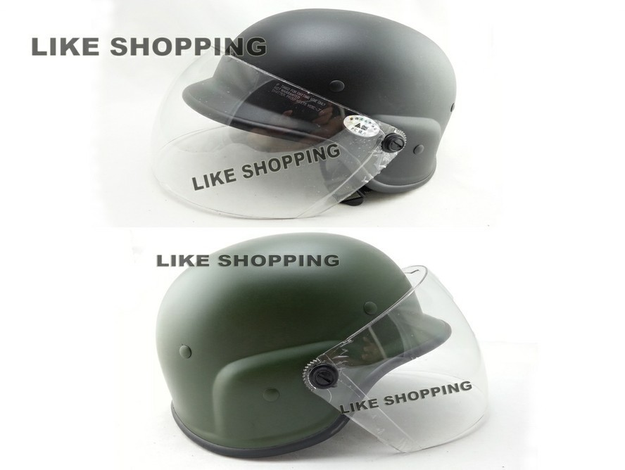 ФОТО Airsoft Helmet with Protective Goggle/tactical Helmet w/Visor Black and green choose