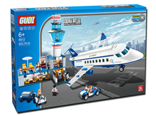 GUDI 8912 City Air Plane international airport Minifigure Building Block 652Pcs Bricks Toys Best Toys