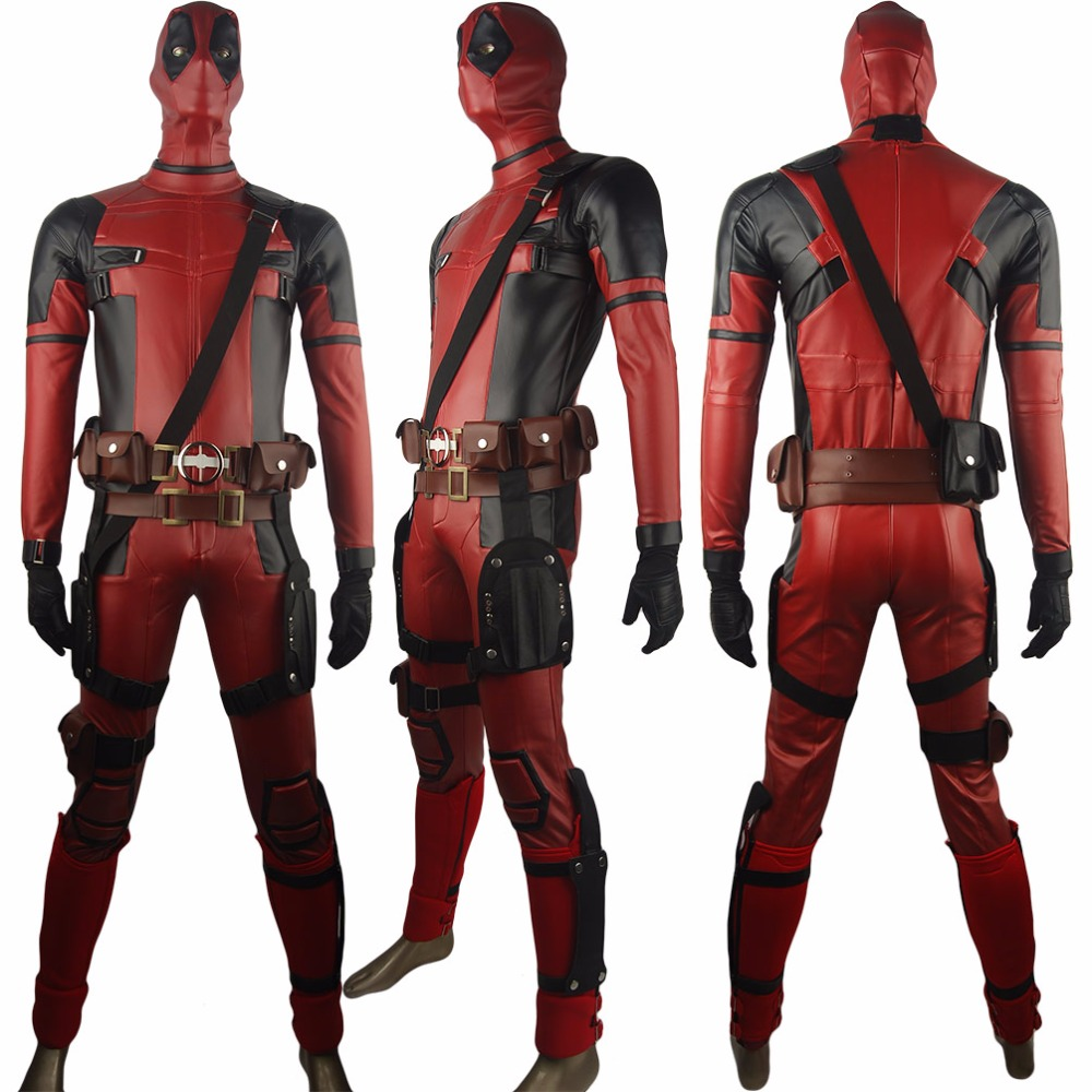 X-Men Deadpool Wade Wilson Traje Uniforme Superhéroe Battleframe Set completo Fiesta de Anime de Halloween Cosplay Disfraces Hombres Mujeres Adultos