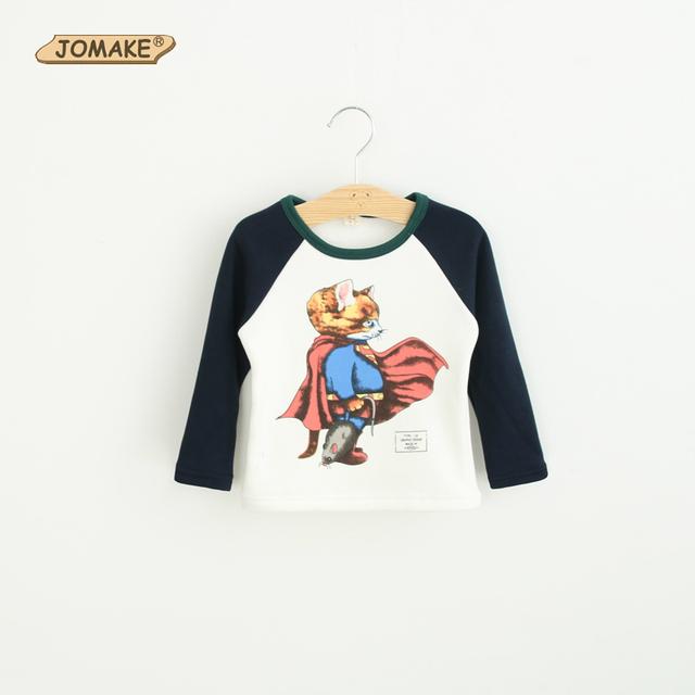 Outono Inverno Meninos Das Meninas Do Bebê Manga Longa Gato Bonito Dos Desenhos Animados Superman Camisolas de Lã Grossa Crianças Casual T-shirts roupas de bebe