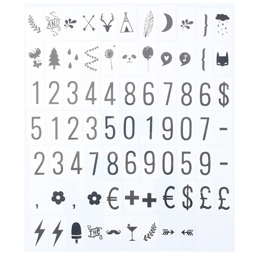 Office & School Supplies 2019 Fashion 75pcs Replacement Letters & Numbers Symbols Black For A4 Cinema Letter Light Box Cinematic Light Box Wedding Words Mild And Mellow