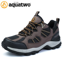 AQUATWO Waterproof Walking Shoes Breathable Outdoor Trekking Shoes Men Waterproof Outdoor Shoes Men Size US6-10.5 Free Shipping