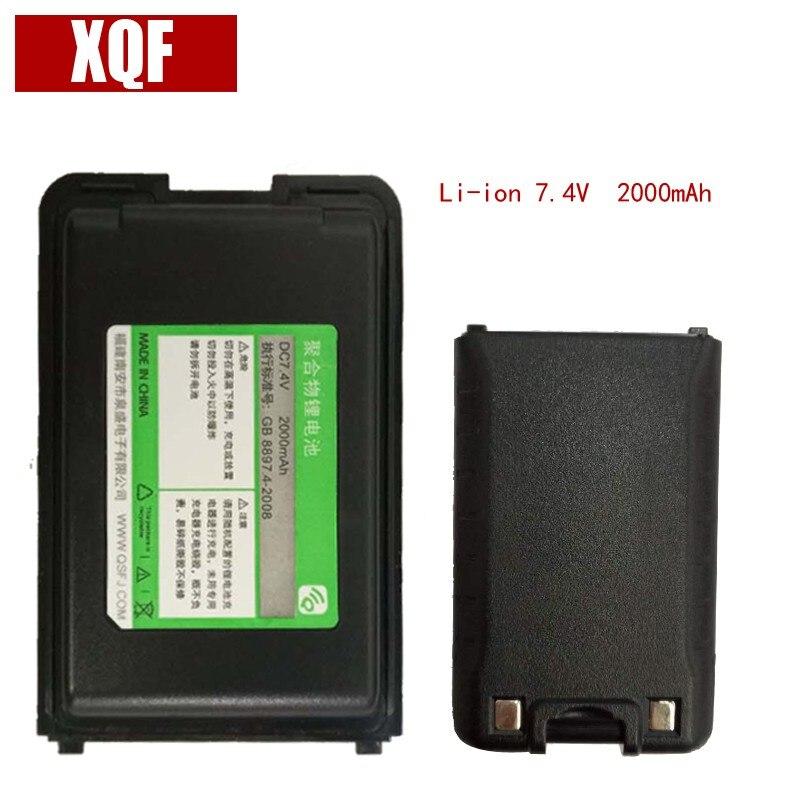 Original Battery DC 7.4V 2000mAh Li-ion For QuanSheng Walkie Talkie TG-UV2 Two Way Radio