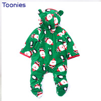 New Years Baby Clothes Warm Cotton Newborn Rompers 2017 Christmas Hoody Jumpsuit Small Kids Romper Party