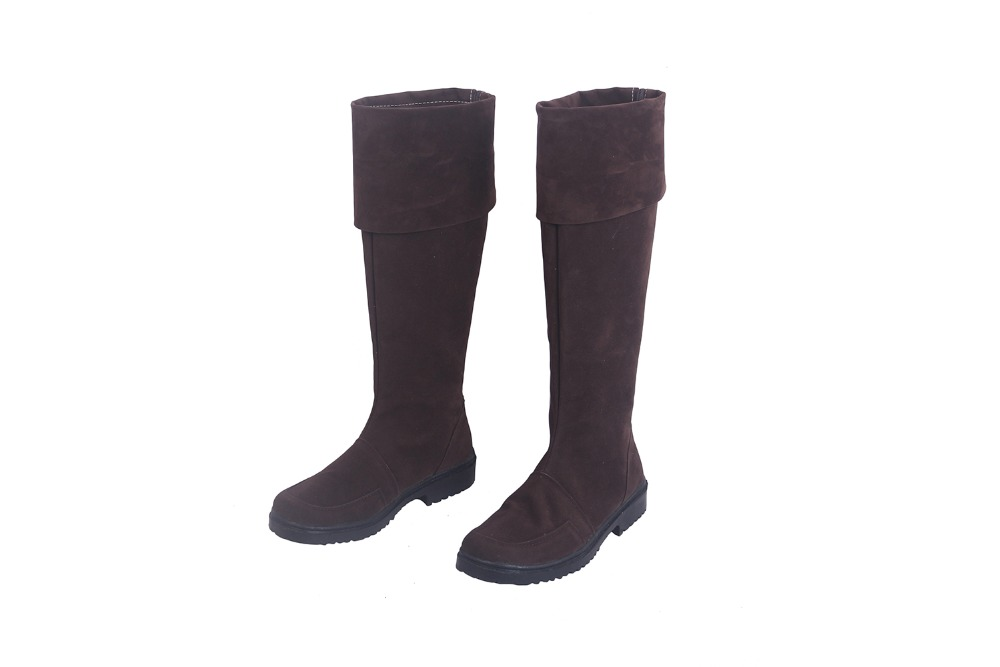FGO FateEXTRA Robin Hood Cosplay Boots Brown Shoes Custom Made Any Size (3)