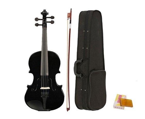 High Quality Tilia 4/4 Black Violin Beginners Beginners Men And Women General Splint Violin Top Practice Piano