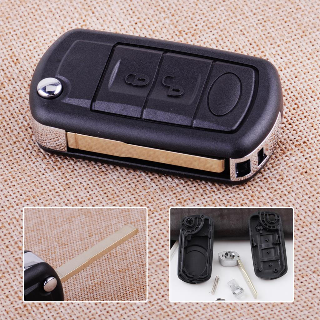 CITALL Black 3 Buttons Car Remote Flip Key Shell Case Fob Fit for Land Rover Range Rover Sport LR3 2006 2007 2008 2009|key case for car|land rover key case|car key shell case - title=