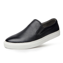 Fashion British Style Men Causal Shoes Genuine Leather Slip On High Quality Superstar Breathable DA021