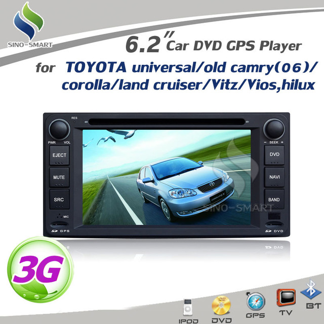 3G Car DVD GPS with IPOD BT TV Radio V-6Disc For TOYOTA RAV4 COROLLA VIOS HILUX Terios land Cruiser AVANZA FORTUNER PRADO RunX