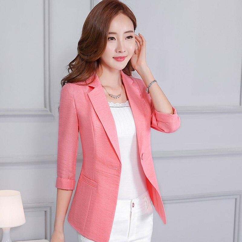 5Xl 4Xl 3Xl Plus Size Slim Fit Women Blazer Fashion Casual Ladies Female Thin Cotton And Linen Outwear Suit Jackets A3632