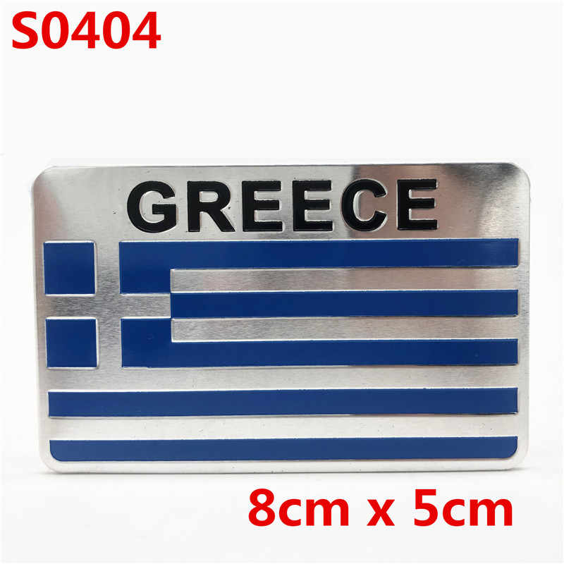3D Alluminio Grecia Bandiera Dell'automobile del Distintivo Dell'emblema Car Fender Sticker Decalcomania Accessori per Yamaha Honda Kawasaki KTM BMW Suzuji