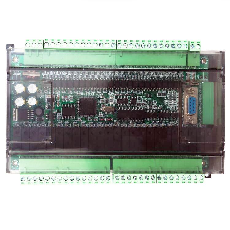 ФОТО FK3U FX3U 48MR 24 input 24 relay output 6 analog input 2 analog output plc controller RS485