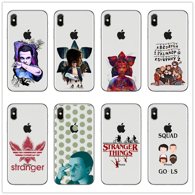 Strange things Hot TV Stranger things poster design soft transparent silicone TPU Phone Cover Case For iPhone 4 5 6 7 8 Plus X