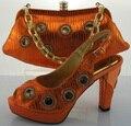 Las Mujeres africanas Zapatos Y Bolsa de Conjunto Para El Partido de Alta Calidad Italiana zapatos Con Bolso A Juego Fijado Para La Boda de Las Señoras Bombea Los Zapatos ME2210