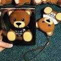 8000 мАч Dual USB Прекрасный Мультфильм Браун Teddy Bear Power bank для iphone/samsung/huawei/htc/xiaomi
