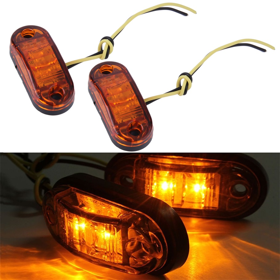 1 Pair Piranha LED Side Marker Blinker Light Lamp For Car Truck Trailers 12/24V Amber Hot Selling